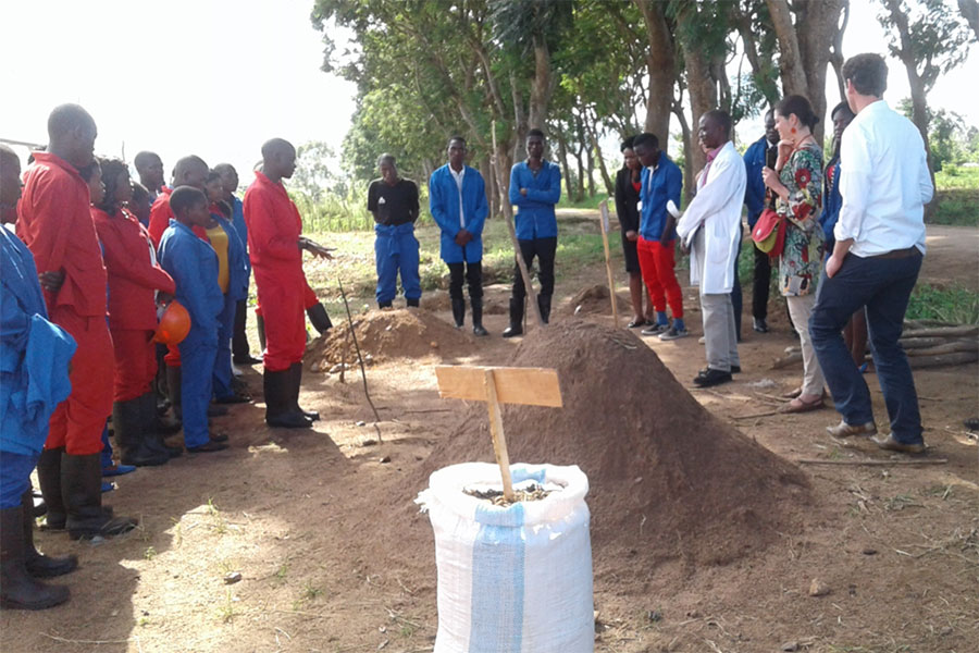 The Youth Have Been Trained On How To Make Compost Manure