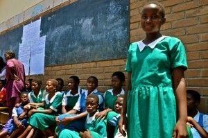 Female Pupils Like These Encouraged To Stay In School