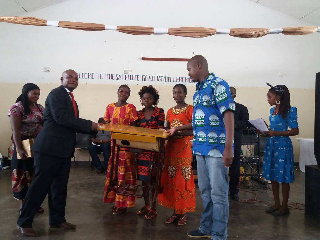 The Handing Over Of Sewing Machines To Trios