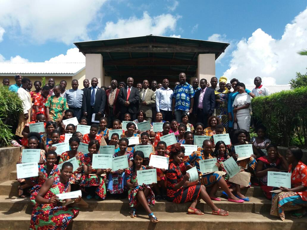 Young Women Awarded With Certificates