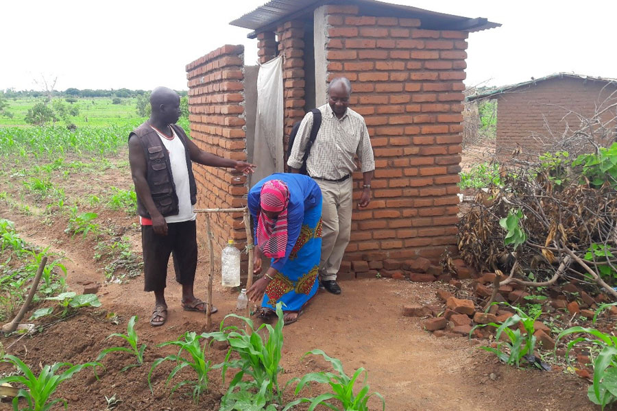 A Latrine With A Hand Washing Facility