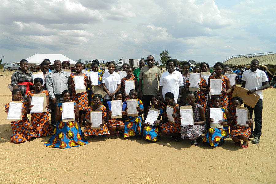 Satellite tailoring students awarded certificates by The TEVET authority