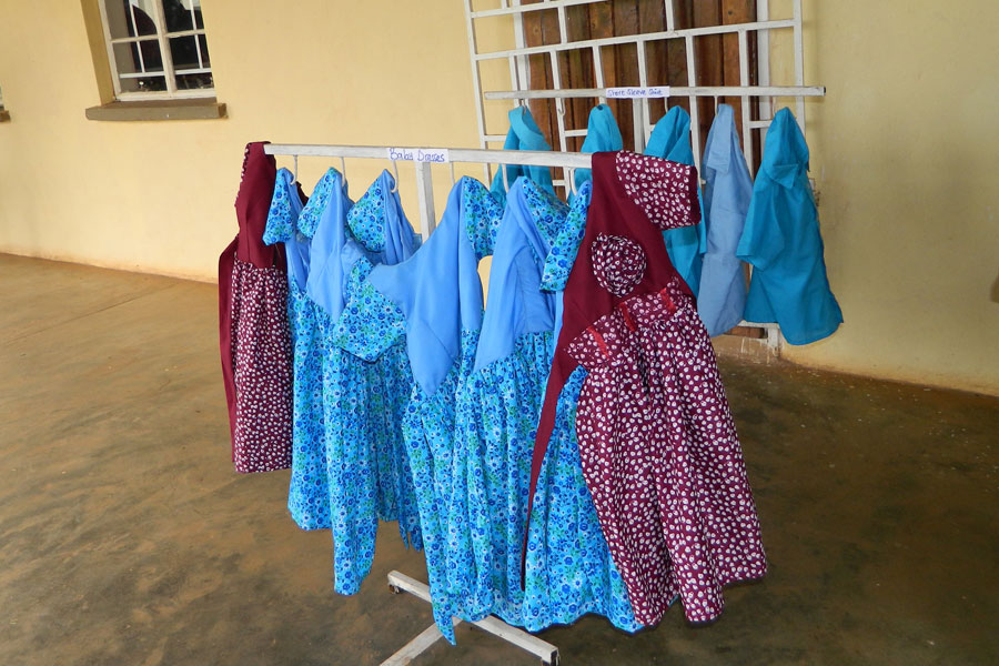 Children Dresses Made By Tailoring Students At Dowa