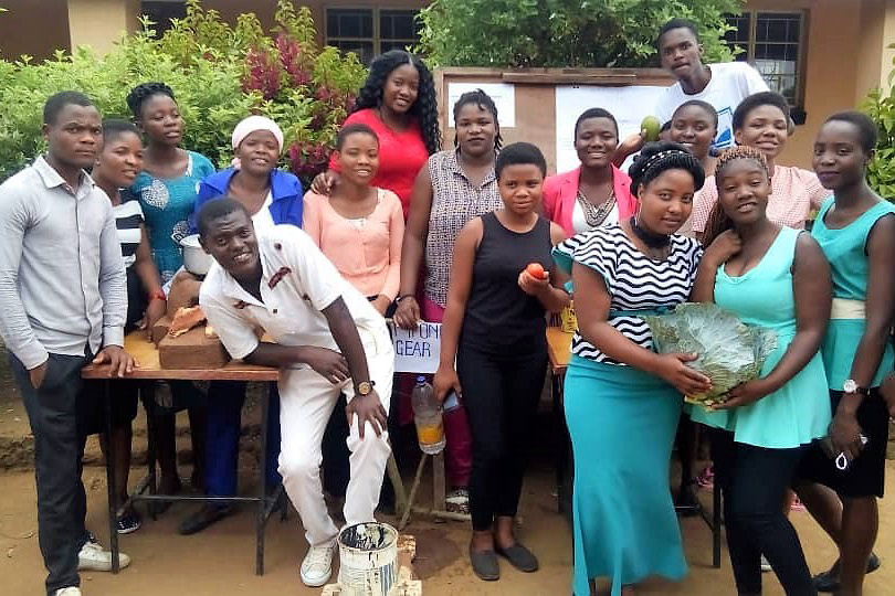 Agricultue students showcasing their products