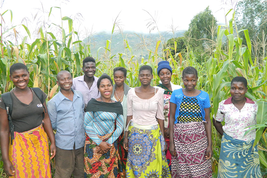 Some Members Of Chigwirizano Club In Their Field Of Maize