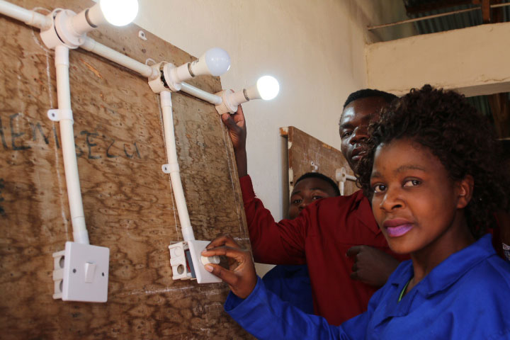 Electrical And Renewable Energy Students At DAPP Mikolongwe School