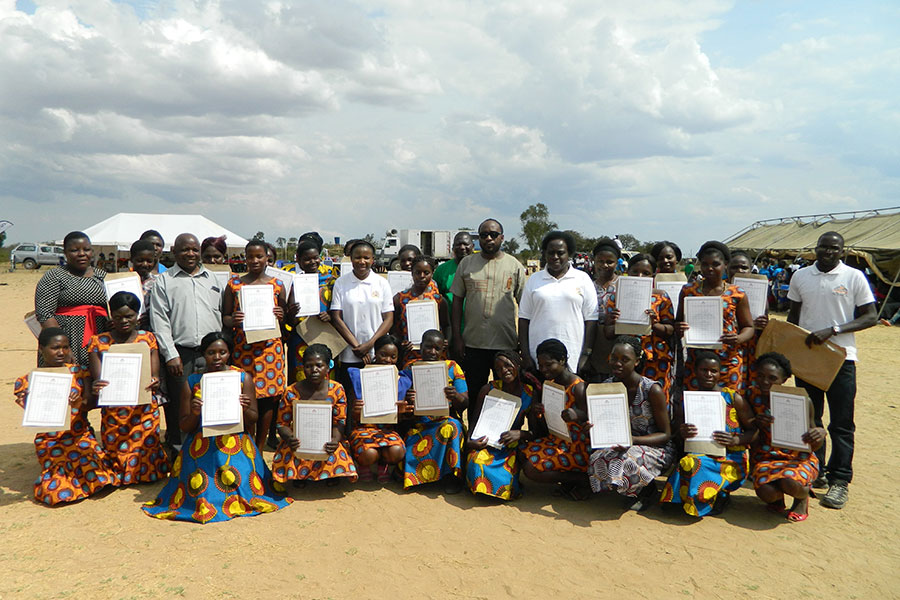 Students Are Awarded Certificates After Completing The Tailoring Course