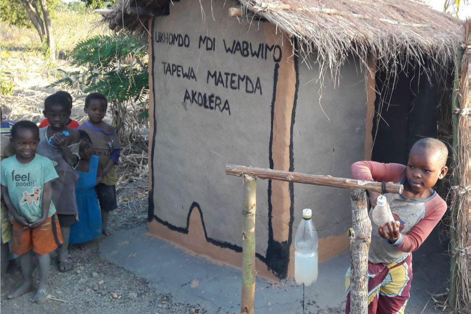 Children are also encouraged to use the Latrines