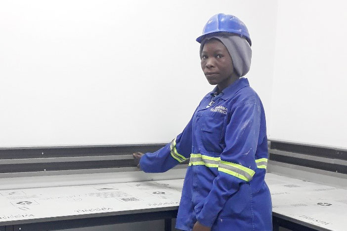 Mphatso in one of her work sites