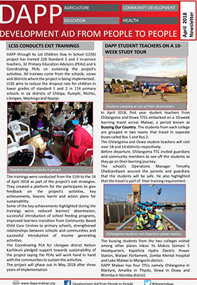 DAPP Malawi April 2018 Newsletter 1