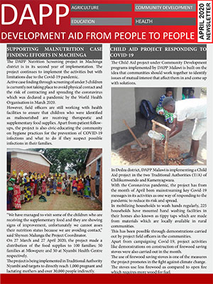 DAPP Malawi April 2020  Newsletter